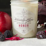 Honor soy candle tall pin
