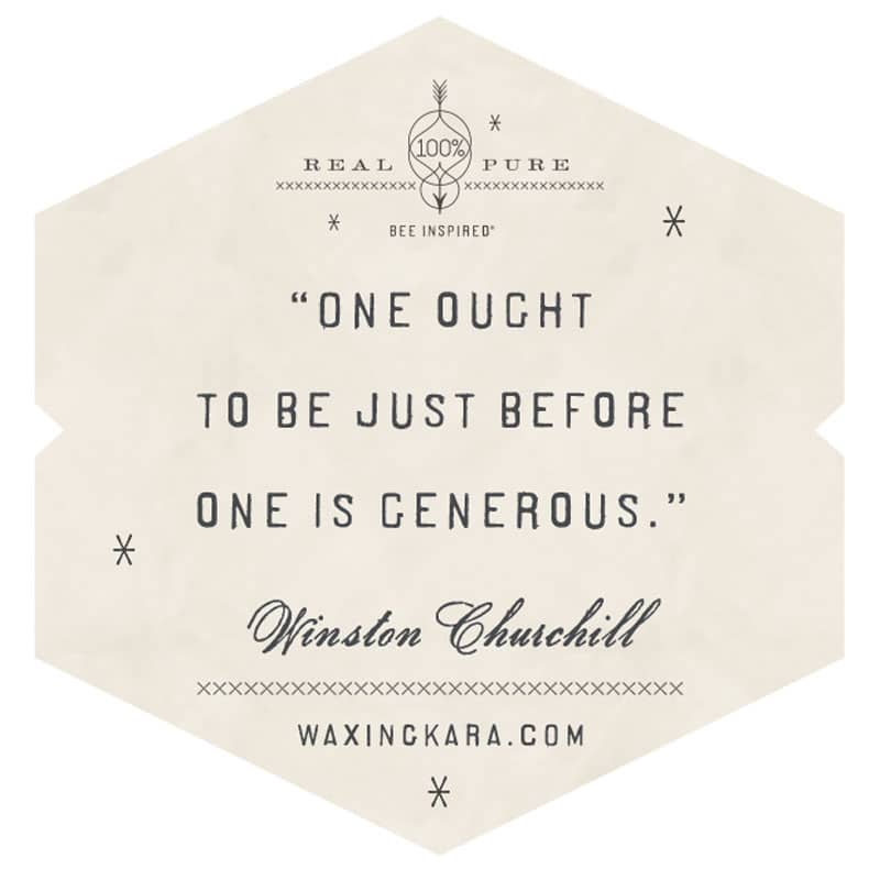 One ought to be just before one is generous.