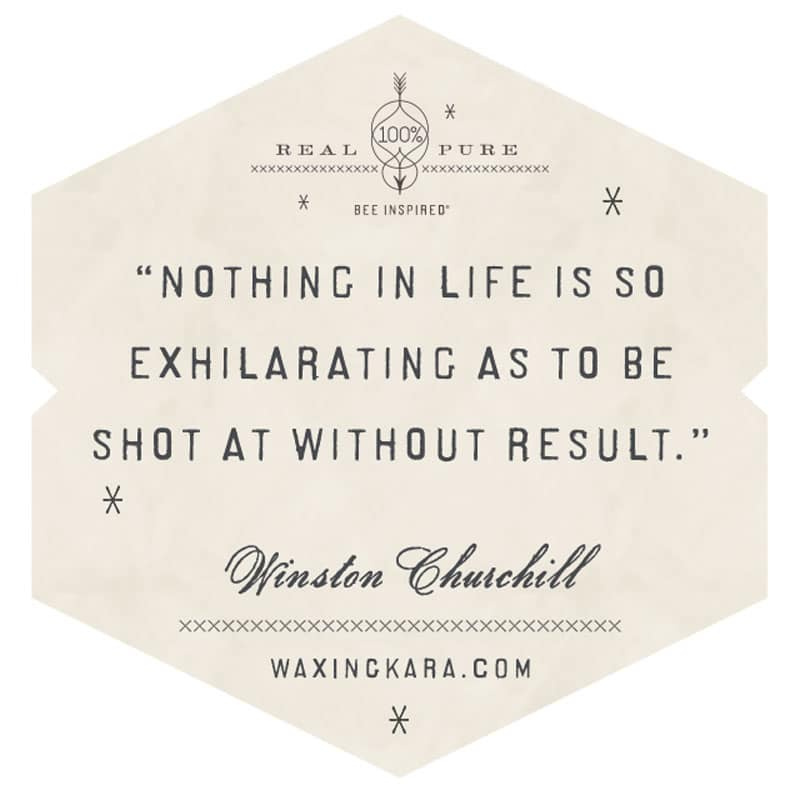 Nothing in life is so exhilarating as to be shot at without result.