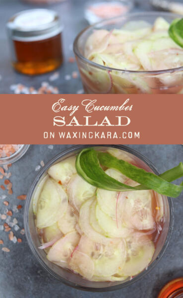 Easy Cucumber Salad Tall Pin