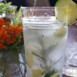 Cucumber Gin Cocktail with Honey tall pin
