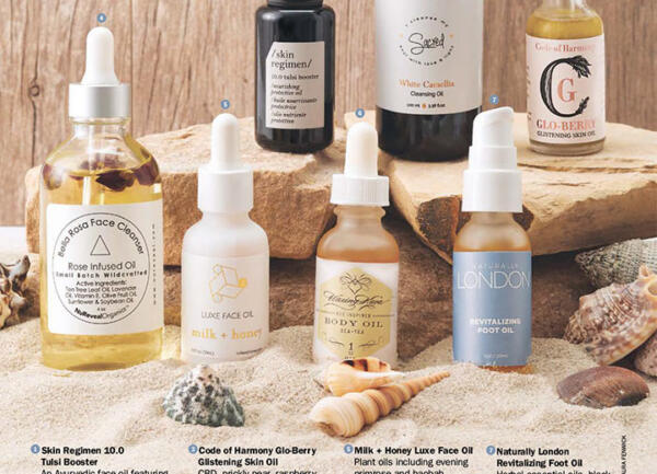 Thumbnail image of DaySpa magazine feature with Sea+Tea Body Oil