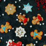 Gingerbread men cookies with colorful icing