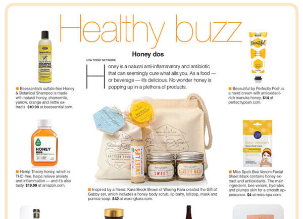 Gift of Gabby featured in USA Today Essential Gifts Healthy Buzz section, January 2020