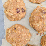 breakfast cookies made with honey, butter eggs and other whole foods